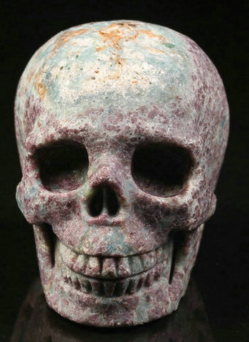 Ruby Fuchsite natural crystal skull - Cast a Stone