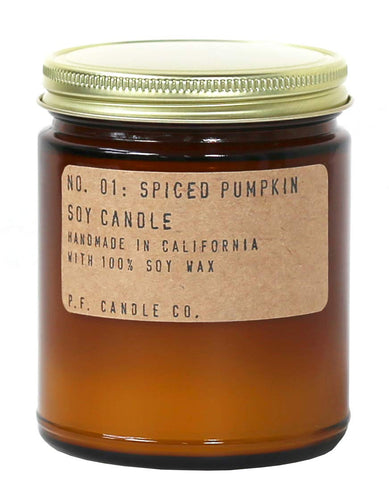 NO. 01: SPICED PUMPKIN - 7.2 OZ STANDARD SOY CANDLE