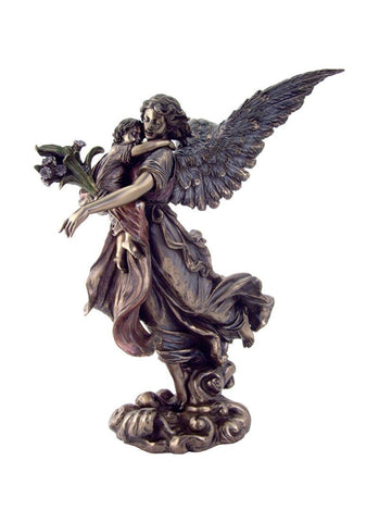 Guardian Angel Holding a Baby Statue - 11""