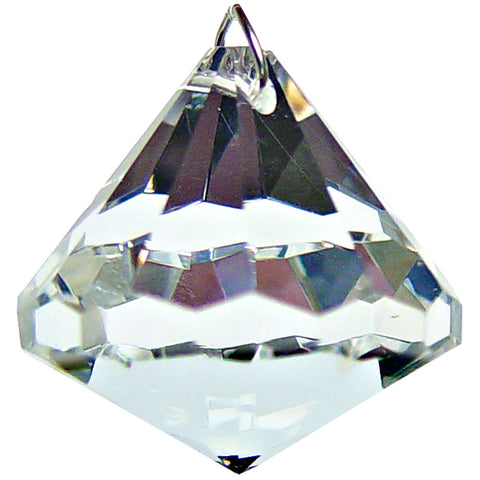 Bell Shaped Faceted Prism Crystal 30 mm