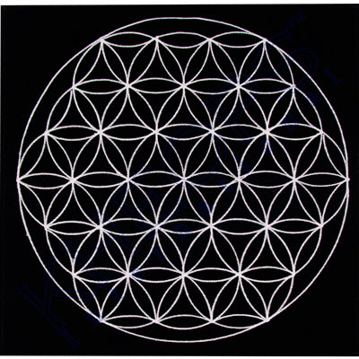 Flower of Life Mat for charging crystals