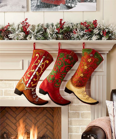 Cowboy Boot Stockings 3 styles