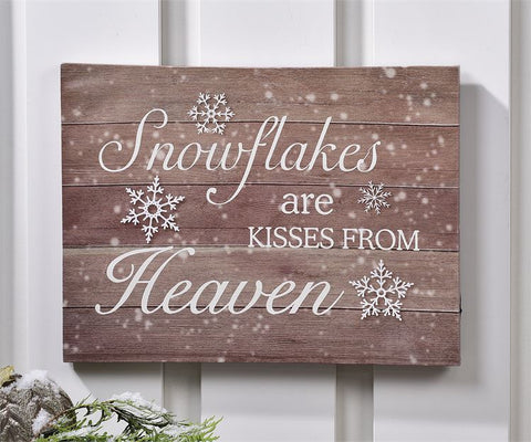 LED Lighted Canvas Wall Print - Snowflakes