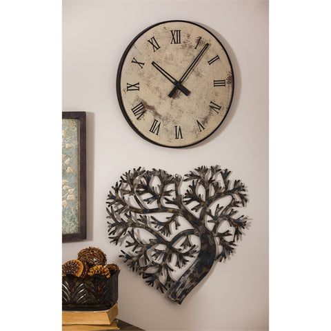 Metal Heart Shaped Tree Wall Décor