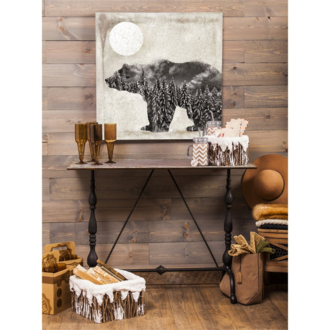 Bear Wilderness Silhouette Indoor Wall Canvas