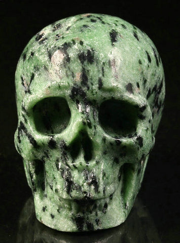 Ruby Zoisite natural crystal skull - Cast a Stone