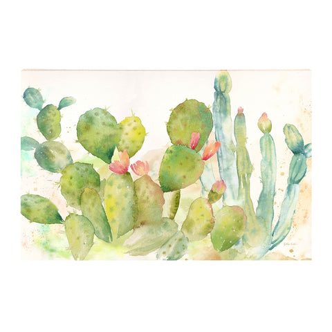 Cactus Garden Landscape 36 x 24 Outdoor Wall Canvas