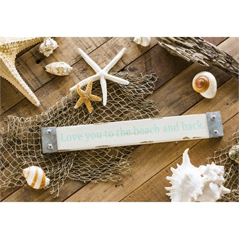 Love You to the Beach and Back Wood Wall Décor