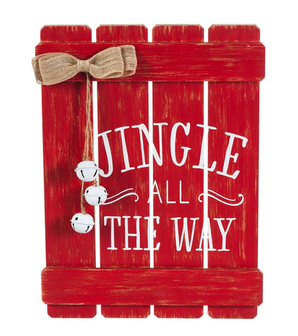 Jingle All the Way Wall Décor with 3D Hanging Bell