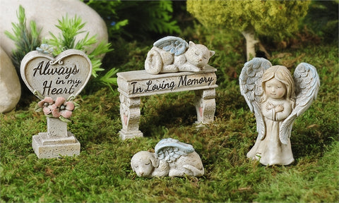 Mini World Memorial Garden 5pc. Boxed Set