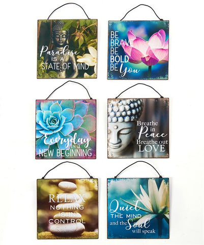 Tranquil Design Hanging Wall Signs