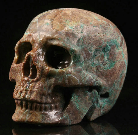 Turquoise natural crystal skull