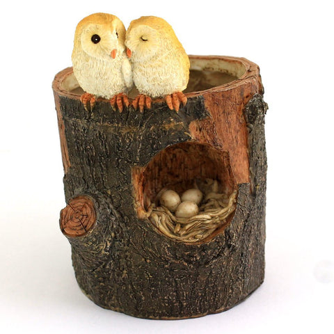 Owl Lovers Functional Flower Pot - Cast a Stone