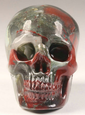African Bloodstone natural crystal skull