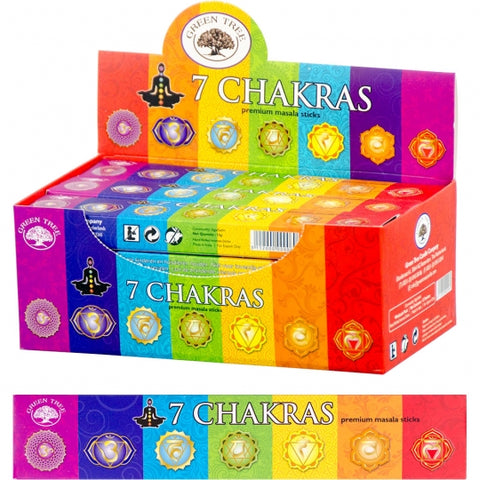 Green Tree 7 Chakras Incense Sticks 15gm
