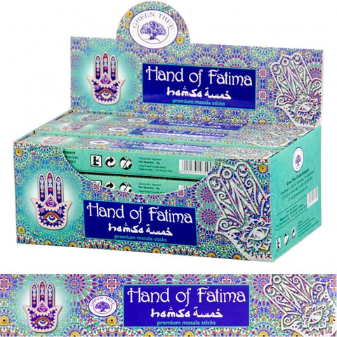 Green Tree Hand of Fatima Incense Sticks 15gm