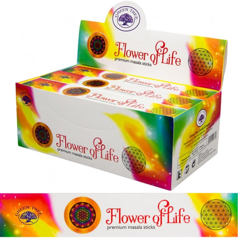 Green Tree Flower of Life Incense Sticks 15gm