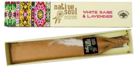 Native Soul White White Sage & Lavender Incense Sticks 15gm