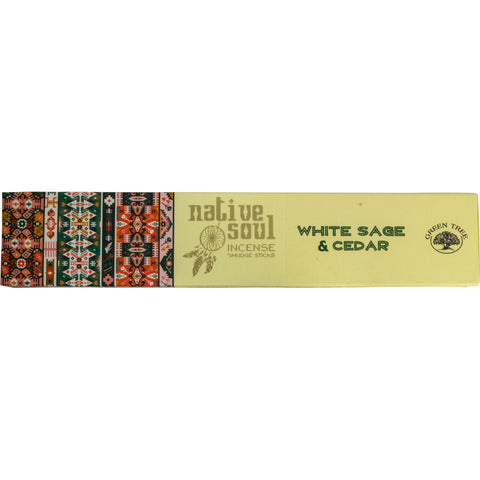 Native Soul White White Sage & Cedar Incense Sticks 15gm