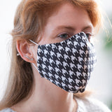Adult 3-Layer Cotton Face Mask with Ear Saver