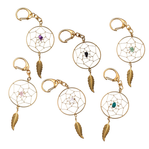 Dreamcatcher Key chain with stone CLEARANCE