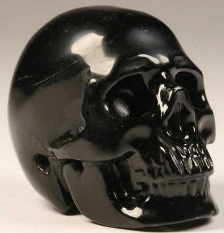 Black Obsidian Natural Crystal Skull