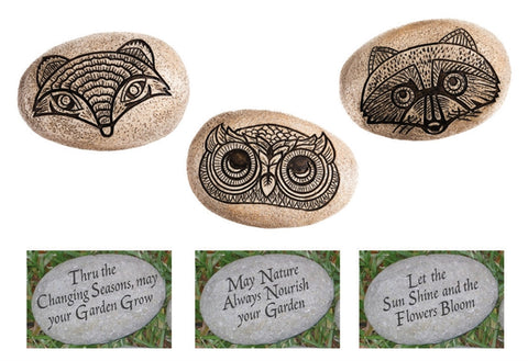 Nature's Spirit Garden Stones Front and back Resin