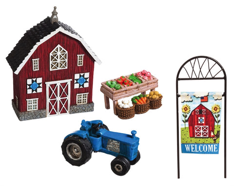 Welcome to My Farm Mini Garden Set of 4
