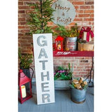 Gather Wood and Galvanized Metal Porch Leaner