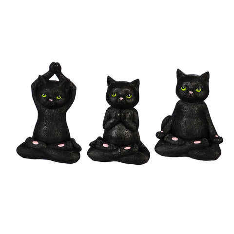 Yoga Black Cats Statuary - 3 Styles to Choose from
