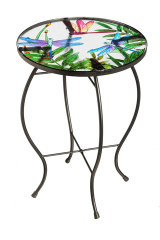 Dragonfly Flutter Glass Table