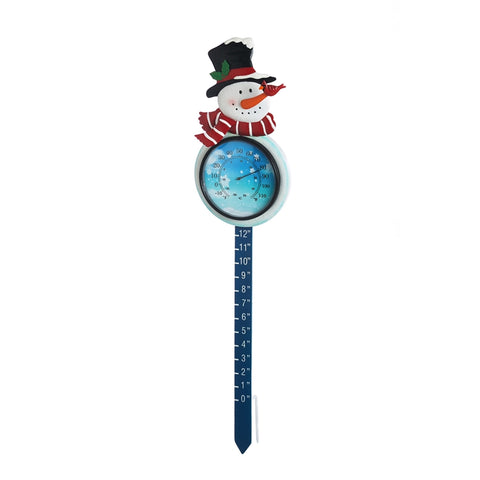 "Thermometer & Snow Gauge Stake ""It's Cold Outside"" CLEARANCE"
