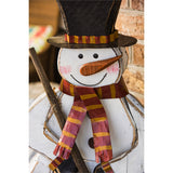 Holiday Snowman Wooden Décor STORE PICK UP ONLY