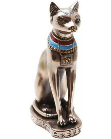 Bronze Bastet Statue - 9 Inches