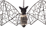 LED Metal Halloween Bat Décor Set of 4 Clearance