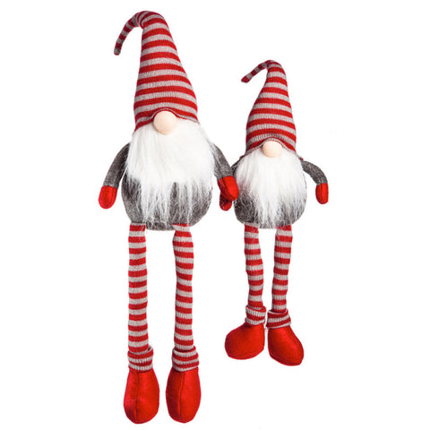 Plush Sitting Long Legs Santa Gnome