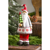 Santa with Tree Tabletop Decoration