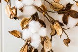 White Natural Cotton Wreath