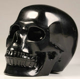 Large 5.1 Black Obsidian natural crystal skull