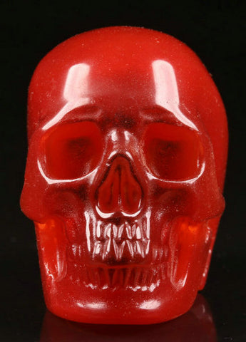 Red Fiber Optic crystal skull - Cast a Stone