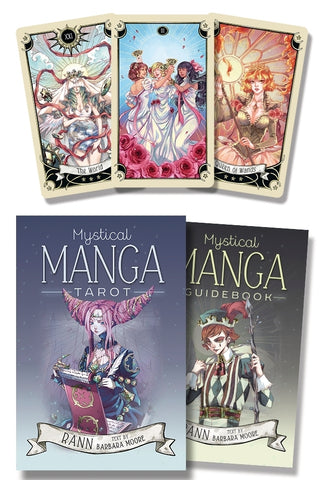 Mystical Manga Tarot Cards by Barbara Moore, Rann - Cast a Stone