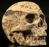 Chinese Grass Flower Stone Natural Crystal Skull