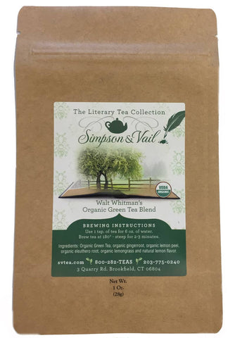 Walt Whitman's Organic Green Tea Blend - 1oz
