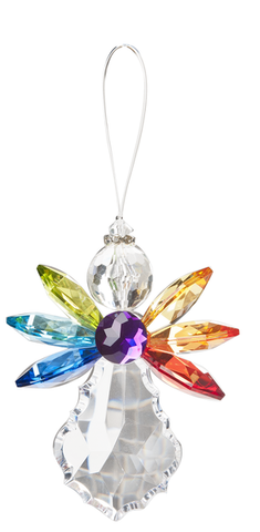 Rainbow Angel Ornament