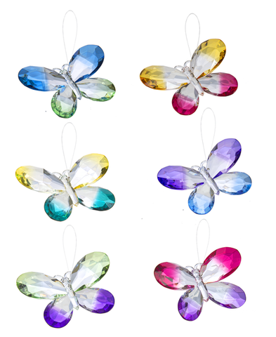 Colorful Butterflies Ornament 5""