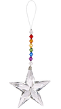 Rainbow Star Ornament 6.5""