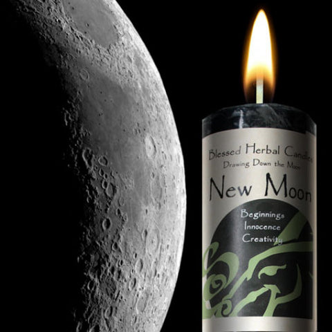 New Moon Drawing Down the Moon Pillar Candle