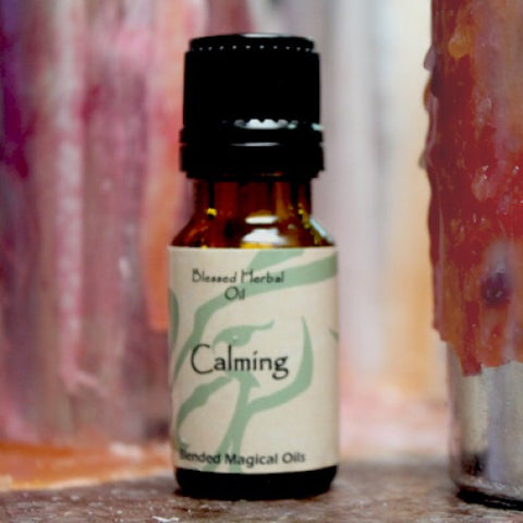 Calming Blessed Herbal Oil - Cast a Stone