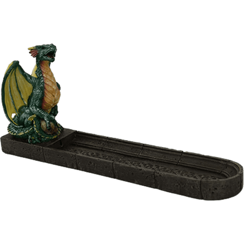 Green Celtic Dragon Incense Burner