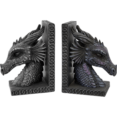 Dragon Head Bookends